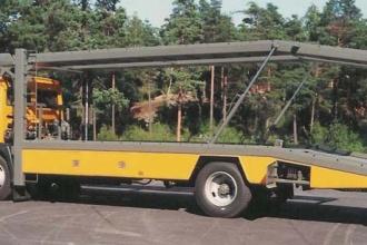 Biltransport trebilar, gul